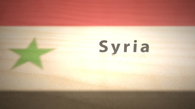Middle Eastern Motion Graphics Country Name in Sand Series - Syria Middle Eastern Motion Graphics Country Name in Sand Series - Syria damascus stock videos & royalty-free footage