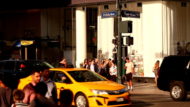Midtown Manhattan Intersection in New York City video