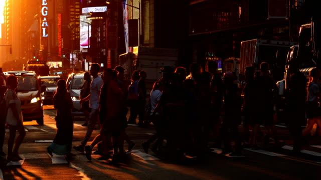 Midtown Manhattan Street Sunset video