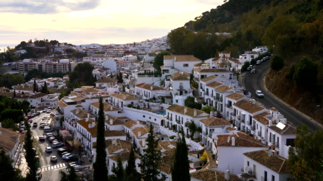 Mijas village in Andalusia with white houses, Spain video