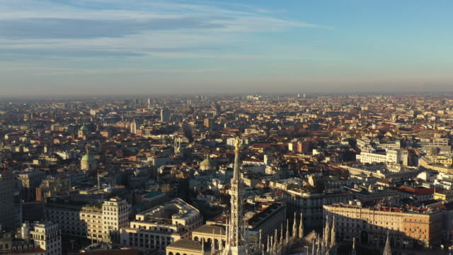 milan cathedral at sunrise - italy - cathedrals stock videos & royalty-free footage