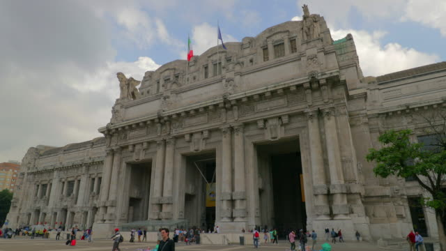 milan central train station - milan railway video stock e b–roll