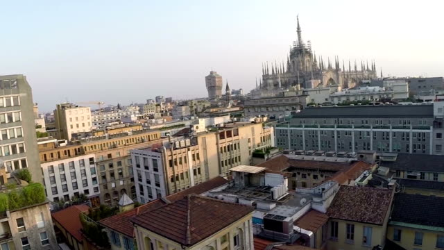 milan, italy (aerial video) - gothic fashion stock videos and b-roll footage