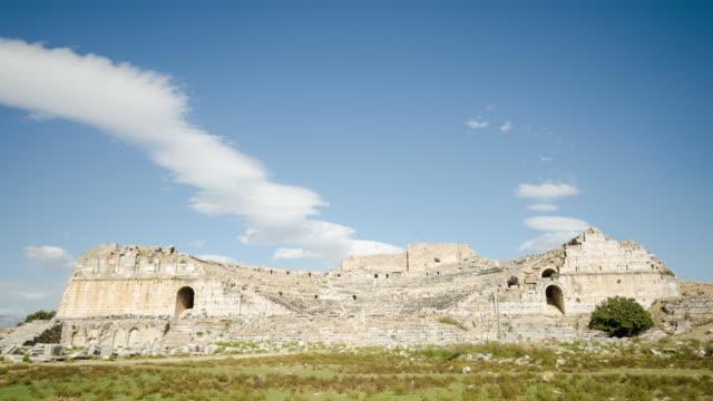 ミレトス古代ギリシャのシティタイムラプス - プリエネ点の映像素材/bロール
