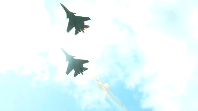 military aircraft are going away from rocket attack