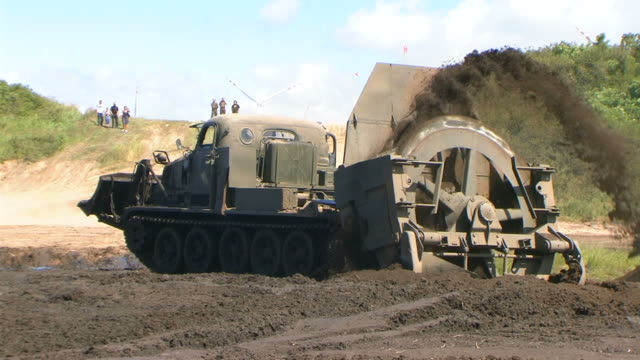 Military Bulldozer Military Bulldozer in action construction vehicle stock videos & royalty-free footage