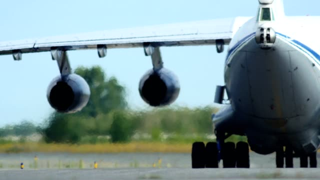 Military Cargo Airplane Taxiing video