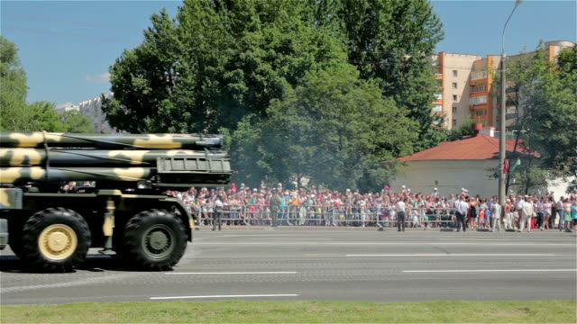 Military cars go on the street Military cars go on the street may stock videos & royalty-free footage
