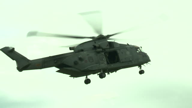 Military education and training-helicopter prepares to land video