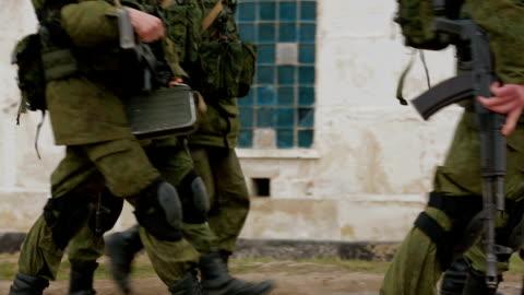 vídeos y material grabado en eventos de stock de la formación militar - rusia