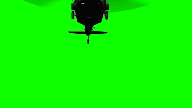 vídeos de stock, filmes e b-roll de helicóptero militar em voo em tela verde - helicóptero