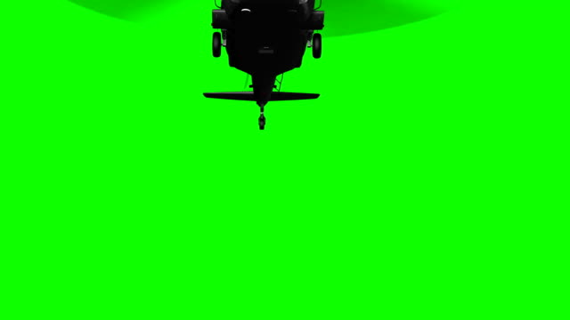 vídeos de stock e filmes b-roll de military helicopter in flight on green screen - helicóptero