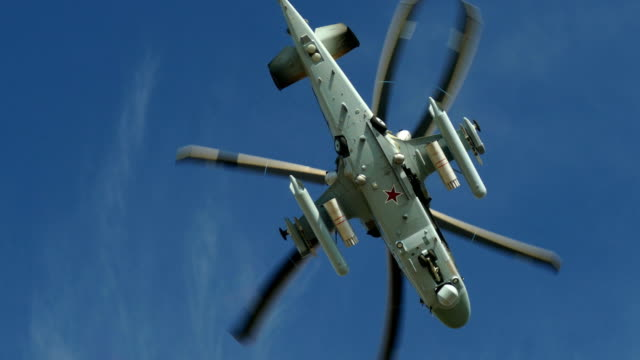 military helicopter maneuvers in the sky video