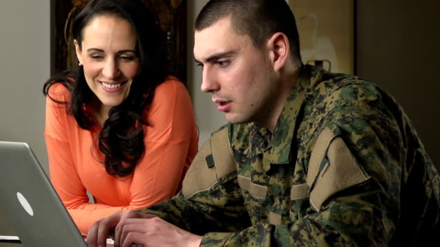 Military Husband and Wife Online video