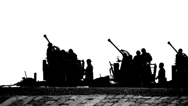 HD - Military parade. volley of cannons video