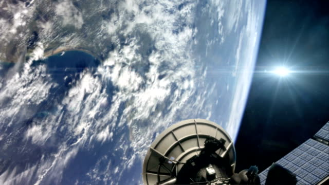 Military Satellite in Planet Earth Orbit video