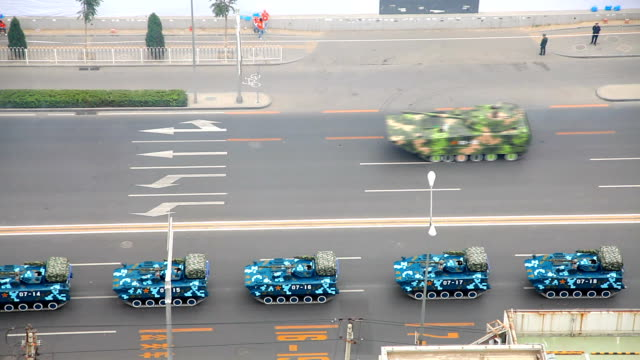 Military vehicle Rehearsal of military parade in Beijing army stock videos & royalty-free footage