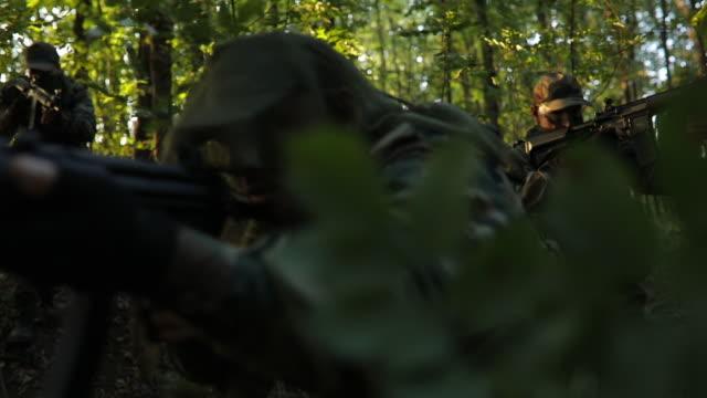 極端な地形での軍事戦争 - こっそり点の映像素材/bロール