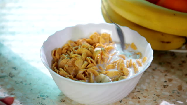 milk and cereal video