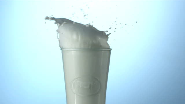 Milk and cookies, slow motion video