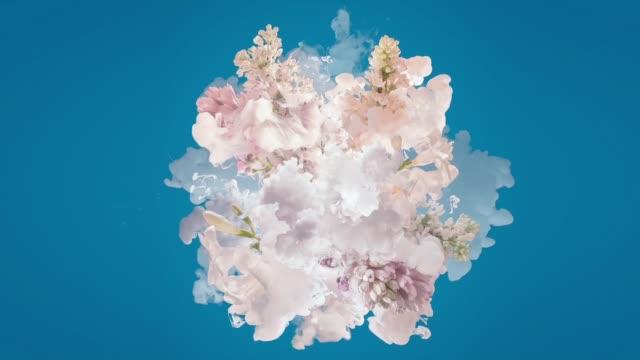 vidéos et rushes de le lait et les fleurs explosent - psychédélique