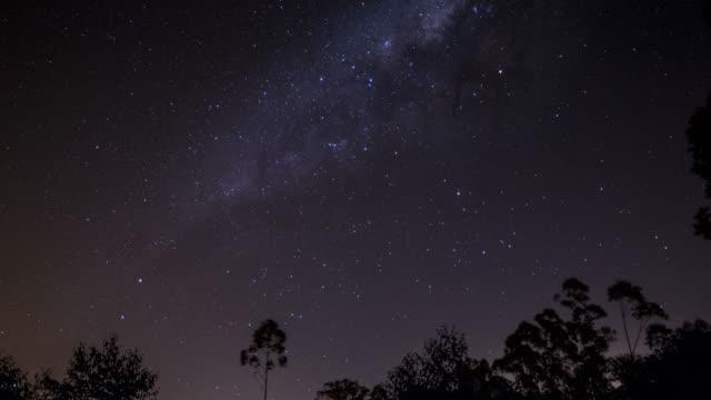 milk way space espaço estrelas - milky way stock videos and b-roll footage