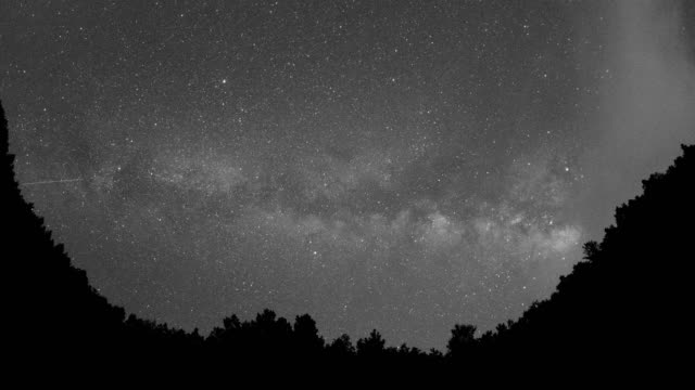 Milky way above the valley 4K Time Lapse Video video