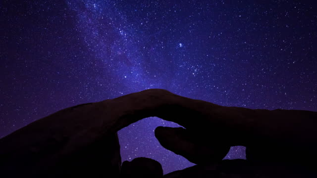 Milky Way and Arch Timelapse in Joshua Tree National Park, California video