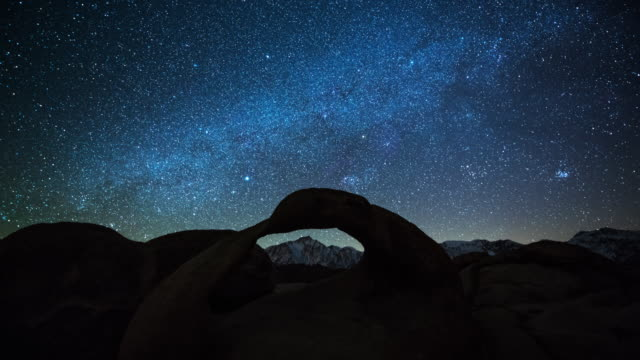 TIME LAPSE: Milky Way and Stars over the Mobius Arch video