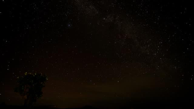 milky way galaxy at the night sky - nightsky bildbanksvideor och videomaterial från bakom kulisserna