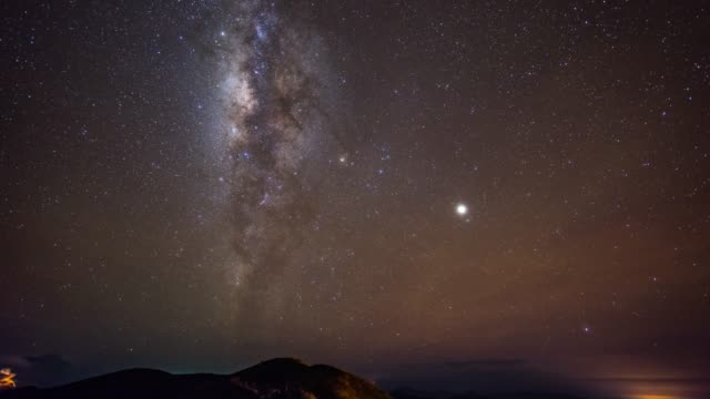 Milky Way Galaxy over Mountains, Perfect Condition, Time-lapse Video video