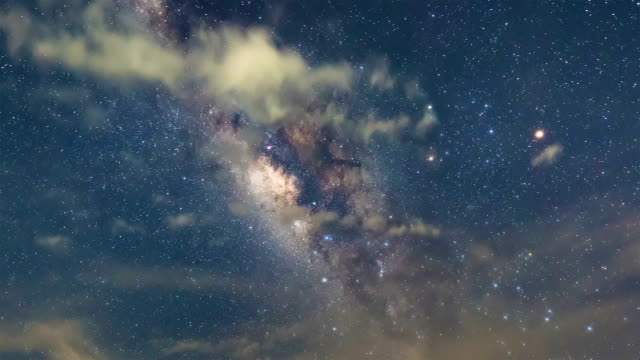 Milky Way Galaxy, Stars, Space,Time Lapse video