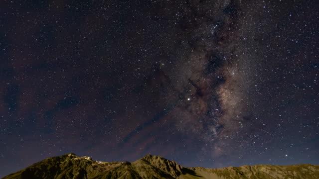 天の川の上に大白山クック、タイムラプスビデオ ビデオ