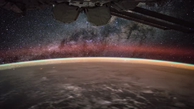 Milky Way over the Earth seen from ISS 4K video