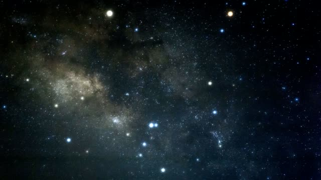 Milky way space galaxy time lapse video