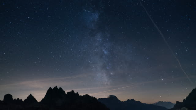 Milky Way, Tilt down Time Lapse video