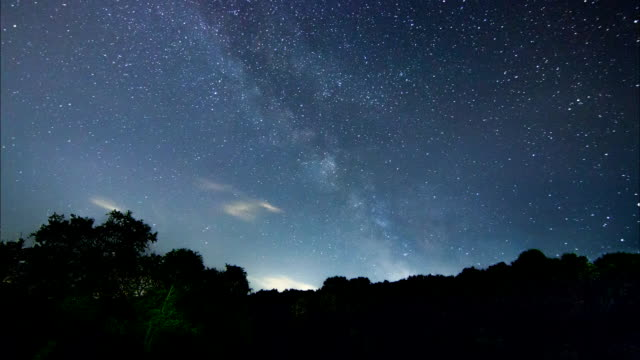 Milky Way Time Lapse beautiful night sky video