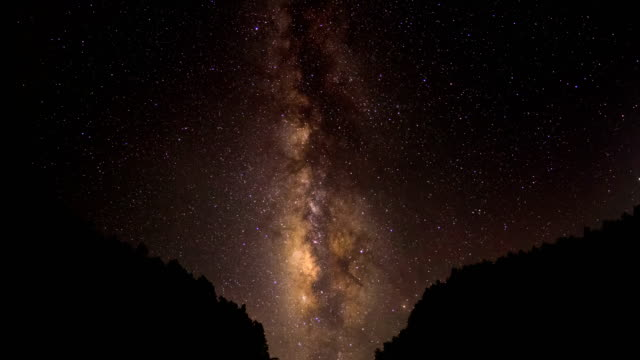 Milkyway translation in night sky 4K Time Lapse Video video