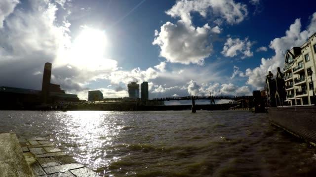 Millennium Bridge and River Thames, London, Time Lapse video