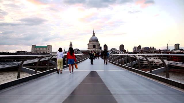 Millennium Bridge and St. Paul's Cathedral video