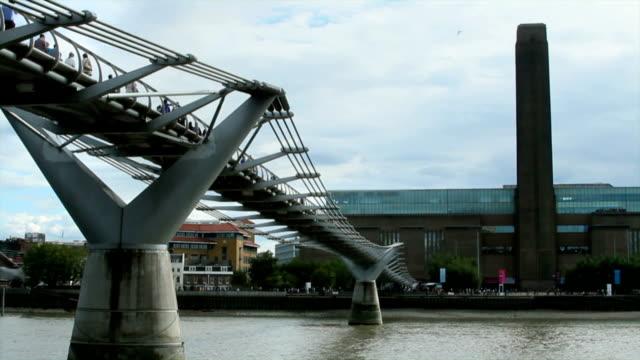 Millennium Bridge, Tate Modern, London. video