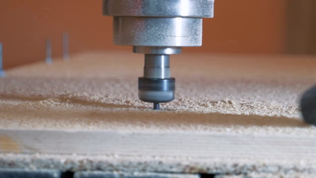 Milling CNC at work, close up video