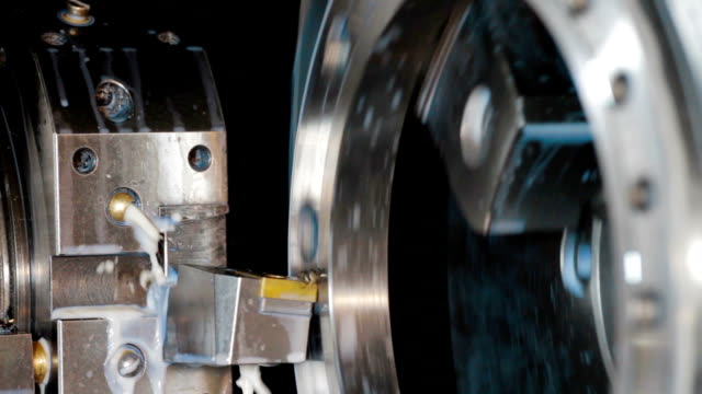 Milling machine milling metal details video