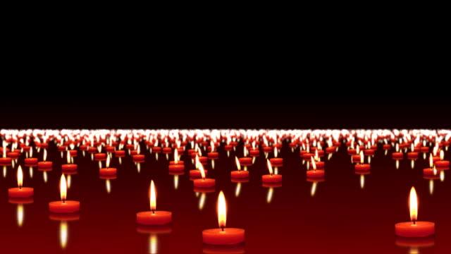 millions of candles burning, loopable, hd - minnesmärke bildbanksvideor och videomaterial från bakom kulisserna
