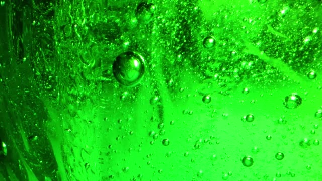 millions of jade green bubbles rise through a liquid medium. this clip is relaxing and strange. possibly a great choice for green screen use or background. - żelatyna filmów i materiałów b-roll