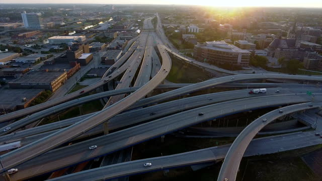 Milwaukee Marquette Interchange facing west video