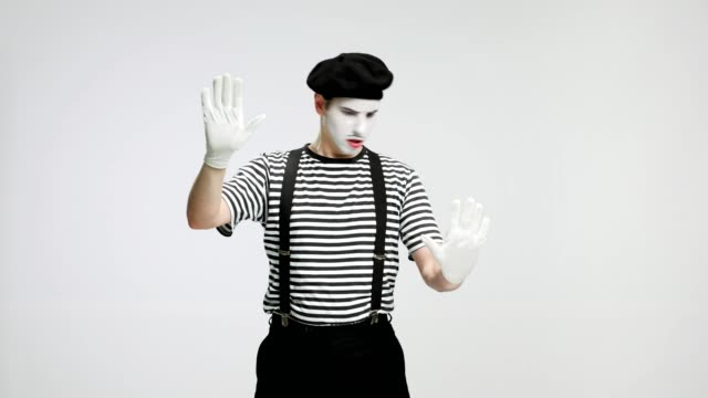 Mime behind an invisible wall video
