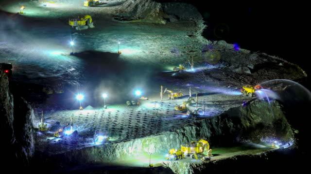 stockvideo's en b-roll-footage met mine at work: heavy machinery at work concept - geologie