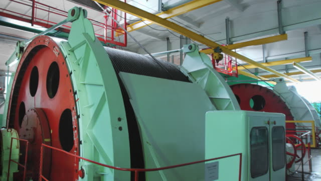 Mine lifting system winch drum video
