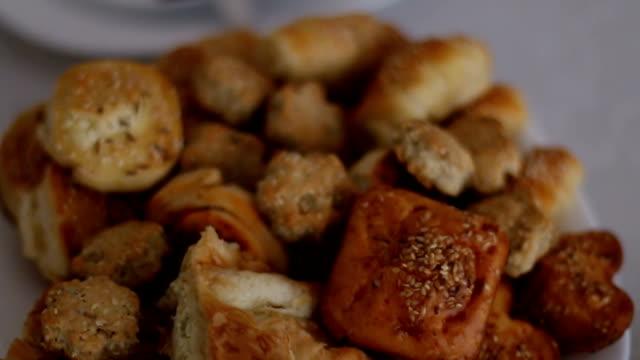Mini rolls Mini rolls bun bread stock videos & royalty-free footage